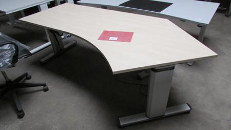 wini schreibtisch elektrisch h henverstellbar arbeitstisch stehtisch 217cm ahorn ebay. Black Bedroom Furniture Sets. Home Design Ideas