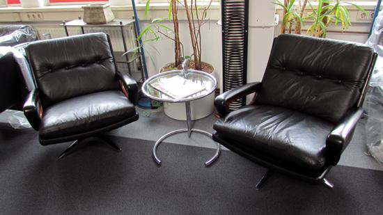 de sede sessel leder clubsessel loungesessel ledersessel drehbar schwarz design ebay. Black Bedroom Furniture Sets. Home Design Ideas