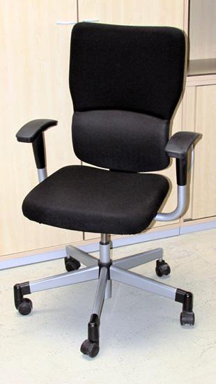 steelcase lets b b rodrehstuhl drehstuhl stuhl b rostuhl schwarz b rom bel b ro ebay. Black Bedroom Furniture Sets. Home Design Ideas