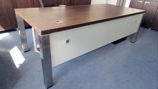 febr ego schreibtisch chefschreibtisch 220x100 ebano arbeitsplatz chefzimmer ebay. Black Bedroom Furniture Sets. Home Design Ideas