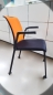 Preview: Steelcase - Eastside - Besucherstuhl - mobil - schwarz/orange