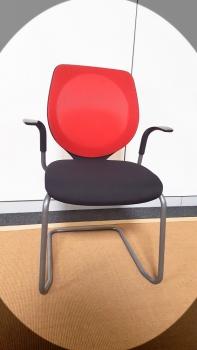 Rovo Freischwinger Besucherstuhl Konferenzstuhl Stuhl Büro Blau-schwarz Bs2153 Besucher- & Konferenzstühle