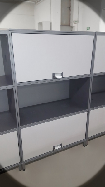 Steelcase - Flex Box - anthrazit-grau - 3-OH - 80x132